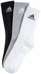 ADIDAS Herren Socken 3S PER CR HC 3er Pack, Größe 35-38 in Schwarz