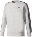 ADIDAS Herren Sweatshirt Essentials 3-Stripes Crew Fleece, Größe M in Grau