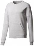 ADIDAS Herren Sweatshirt ID STADIUM CREW, Größe XL in Silber
