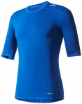 ADIDAS Herren Trainingsshirt Techfit Base Tee, Größe L in Blau