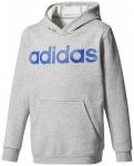 ADIDAS Kinder Jacke YB LIN HOOD, Größe 140 in Grau/Blau