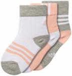 ADIDAS Kinder Socken Crew, 3 Paar, Größe 19-22 in Medium/Grey/Heather/White/Ha