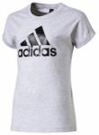 ADIDAS Kinder T-Shirt Logo grau, Größe 140 in Grau