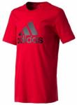 ADIDAS Kinder T-Shirt YB Logo, Größe 128 in Rot