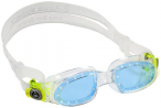 AQUA SPHERE Kinder Schwimmbrille  MOBY, Größe S in TRANSPARENT BRIGHT GREEN LE