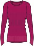 ASICS Damen Laufshirt fuzeX Seamless langarm, Größe M in Rot