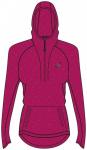 ASICS Damen Laufshirt / Sweatshirt LS Hoodie Langarm, Größe 34 in Rot
