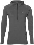 ASICS Damen Laufshirt / Sweatshirt LS Hoodie Langarm, Größe L in Grau