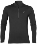 ASICS Herren Laufshirt LS Jersey 1/2 Zip Langarm, Größe XL in Grau