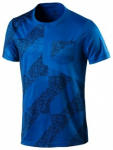ASICS Herren Laufshirt Lite-Show, Größe XL in Blau