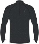 ASICS Herren Laufshirt Stripe 1/2 Zip Langarm, Größe M in Grau