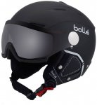 "BOLLÉ Skihelm ""Blackline Visor Premium"", Größe 54 in SOFT BLACK & WHITE WIT"