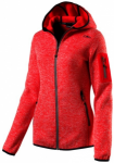 CMP Damen KNITTED MELANGE HOODY HOODY J, Größe 38 in Orange