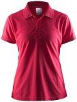 CRAFT Damen Polo Shirt Pique Classic, Größe 38 in Russian Rose