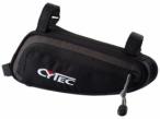 CYTEC Fahrradtasche Rahmentasche mit großem Zippfach in Schwarz