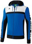 ERIMA Herren CLASSIC 5-CUBES Trainingsjacke mit Kapuze, Größe L in Blau