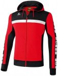 ERIMA Herren CLASSIC 5-CUBES Trainingsjacke mit Kapuze, Größe M in Rot