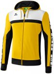 ERIMA Herren CLASSIC 5-CUBES Trainingsjacke mit Kapuze, Größe S in Gold