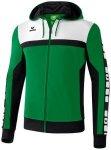 ERIMA Herren CLASSIC 5-CUBES Trainingsjacke mit Kapuze, Größe S in Grün
