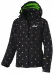 etirel Kinder Skijacke Rosie, Größe 140 in Schwarz / Bunt / Grün
