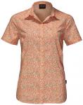 JACK WOLFSKIN Damen Bluse Sonora Millefleur Shirt, Größe M in Papaya All Over