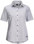JACK WOLFSKIN Damen Hemd INDIAN SPRINGS SHORTSLEEVE, Größe XL in Weiß