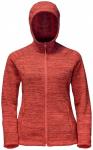 JACKWOLFSKIN Damen Fleecejacke Aquila Hooded Jacket, Größe S in Hot Coral