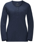 JACK WOLFSKIN Damen Longsleeve WINTER TRAVEL HENLEY WOMEN, Größe M in Midnight