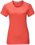 JACK WOLFSKIN Damen Shirt Rock Chill T-shirt, Größe S in Rot
