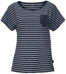 JACK WOLFSKIN Damen T-shirt Travel Striped T Women, Größe XS in Grau