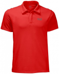 JACK WOLFSKIN Herren Polo Three Towers, Größe XXL in Rot