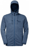 JACK WOLFSKIN Herren Fleecejacke Tongari Hooded Jacket, Größe XXL in Blau