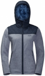 JACK WOLFSKIN Damen Fleecejacke Pacific Sky, Größe L in Midnight Blue, Größe