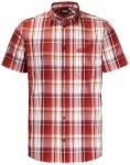 "JACKWOLFSKIN Herren Wanderhemd ""Hot Chili Shirt"" Kurzarm, Größe S in Volcano R"