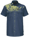 "JACKWOLFSKIN Herren Wanderhemd ""Thompson Shirt Men"" Kurzarm, Größe L in Blau"