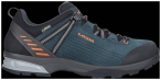 LOWA Herren Trekkingschuhe Ledro GTX Lo, Größe 44 in Petrol / Orange