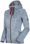 MAMMUT Damen Fleecejacke Chamuera ML Hooded Jacket graphite, Größe L in Grau