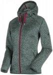 MAMMUT Damen Fleecejacke Chamuera ML Hooded Jacket graphite, Größe XS in Grau