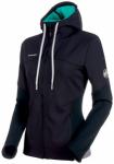 MAMMUT Damen Kletterjacke Alnasca ML Hooded Jacket, Größe L in Schwarz