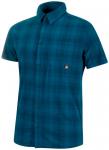 MAMMUT Herren Hemd Trovat Trail Shirt, Größe L in Blau