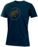 MAMMUT Herren T-Shirt Trovat, Größe M in Braun
