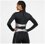 "NIKE Damen Fitnessshirt ""HyperWarm"" Langarm, Größe L in BLACK/METALLIC SILVER"