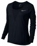 NIKE Damen Laufshirt / Langarmshirt Zonal Cooling Relay, Größe 38 in Schwarz