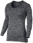 NIKE Damen Laufshirt / Langarmshirt Dri-Fit Knit Top, Größe 42 in Grau