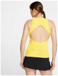 NIKE Damen Shirt NKCT MB NT, Größe L in OPTI YELLOW/OFF NOIR