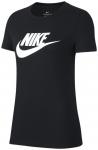 NIKE Damen Shirt ESSNTL ICON FUTURA, Größe XS in BLACK/WHITE, Größe XS in BL