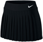 NIKE Damen Tennisrock Women's NikeCourt Victory Tennis Skirt, Größe XS in Schw