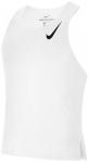 NIKE Herren Laufsport Shirt AeroSwift Singlet, Größe XL in WHITE/BLACK