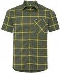 ODLO Herren Wanderhemd Nikko Check, Größe M in Gelb
