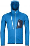 ORTOVOX FLEECE GRID HOODY M, Größe M in safety blue